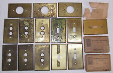 16 Vintage Brass Wall Light Switch Covers