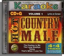 Karaoke CD+G - Hot Country Male Vol 1 - New 4 Song CD! The Cowboy in Me, Young