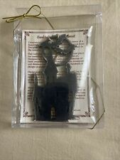 Designocracy Handcrafted Halloween Rustic Ornament Witch's Castle w/Moon & Bats