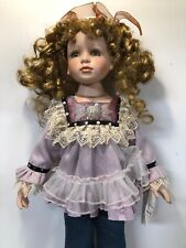 """Rare 27"""" Toddler Girl Life Size Duck House Heirloom Dolls 766/5000 Curly Hair"""