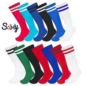 3 Pack Soxy Football Socks Knee High Rugby Hockey Soccer Sports Mens Boys