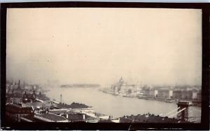 Hongrie, Budapest, vue générale Vintage albumen print,  Tirage citrate  7x11