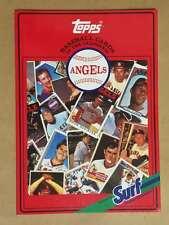 Topps Surf Baseball Card Book - California Angels Mlb 1987 Mint