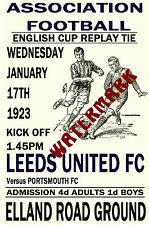 LEEDS UNITED - VINTAGE 1920's STYLE MATCH POSTER