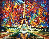 Paris of my Dreams - Palette Knife Oil Painting On Canvas By Leonid Afremov