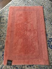 RALPH LAUREN Large Reversible Bath Rug Solid Coral 27x44 inches 100% Cotton NEW