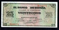 ESPAÑA BILLETE  25 PTAS  20/05/1938 SERIE B, EBC