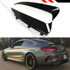 FOR 17-19 MERCEDES BENZ W205 2DR COUPE AMG REAR BUMPER SIDE VENT INSERT CANARDS