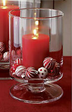22cm Glass Hurricane Candle Lantern Christmas Candle Holder Table Centrepiece