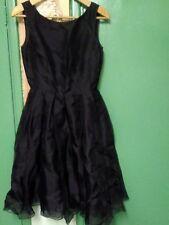 NWT! DKNY Silk Dress, Black, Size 4.