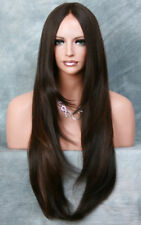 """38"""" Extra Long Full Lace Front Wig Straight Brown mix Layered Hairpiece 4/30"""