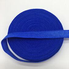 "5yds 3/8"" Blue Fold Over Multirole Elastic Spandex Band DIY Lace Sewing Trim"