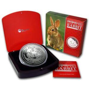 1 KILO kg 2011 Perth Lunar Rabbit Silver Coin PROOF COA 142
