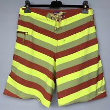 PATAGONIA Men's Board Shorts Size 32 Wavefarer Swim Trunks Striped Print