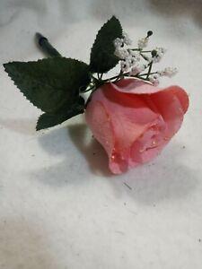 Pink Rose Flower Pen -  NEW Ballpoint pen with Black Ink