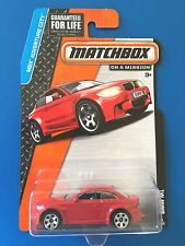 2015 Matchbox 2015 BMW 1M SPORTS COUPE RED VERSION Mint on long card!