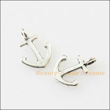 30Pcs Antiqued Silver Tone Tiny Shipping Anchor Charms Pendants 8x11mm