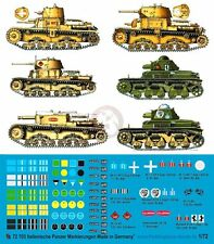 Peddinghaus 1/72 Italian Tank and Vehicle Markings WWII (9 vehicles) [Decal] 703
