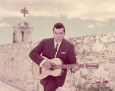 MARIO LANZA Vintage rare Color 4x5 inch Photo TRANSPARENCY Slide playing guitar