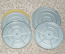 Lot Of (4) 8mm Film Tins And Reels.