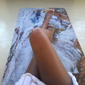 Yogamatte Design faltbar bedruckt Natur-Kautschuk Gymnastik Matte Golden Sea