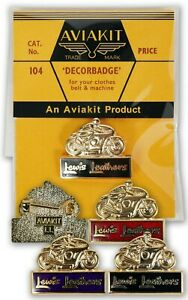 Official Aviakit Lewis Leathers Motorcycle badge Black / Navy / Red