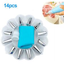 14 PCS/Set DIY Cake Decorating Piping Cream Pastry Bag with 12 pcs Nozzle Set