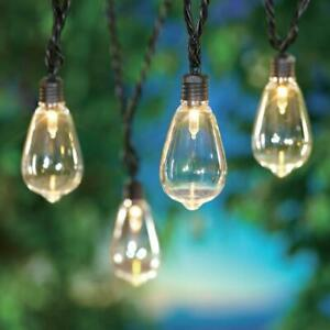 35 Count Outdoor LED Edison Bulb String Lights with Black Wire and AC party fun