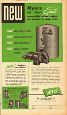 1949 vintage AD, MYERS' 'HN' Series EJECTO Water System, Well Pumps  082913