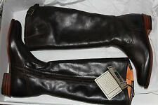 FRYE DORADO INSIDE ZIP BROWN FULL GRAIN  LEATHER  SIZE 8 $458