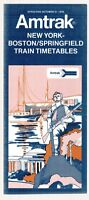 [25826] 1976 AMTRAK NEW YORK-BOSTON-SPRINGFIELD RAILROAD TRAIN TIMETABLE