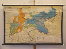 Scheda crocifissi di Prussia prussiano 1815-1945 191 x126cm 1962 VINTAGE Prussia Map
