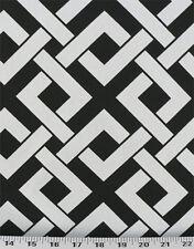 Drapery Upholstery Fabric Indoor / Outdoor Geometric - Black & White