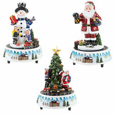 Christmas Decoration - Light Up Musical Ornament - Moving Train - Choose Design
