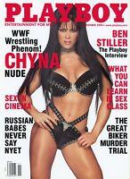 PLAYBOY NOVEMBER 2000 Buffy Tyler Chyna, WWF Wrestling Ben Stiller Neil Labute