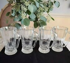 Vintage Crystal Slovenia Vitrum Footed Mugs Irish Coffee Mugs Set of 4