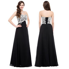 Black HOT Bridesmaid Prom Dress LONG Formal Evening Dresses Masquerade Ball Gown