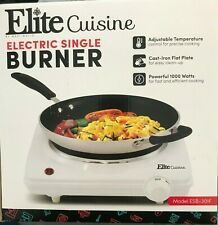 Electric Cast Iron Hot Plate By Elite Cuisine Portable Food Cooking Stove Burner