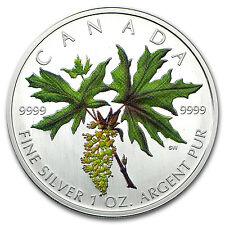 2005 Canada 1 oz Silver Maple Leaf Colored (Broadleaf Maple) - SKU #93251