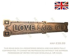 Cette maison S/'exécute sur amour rire et beaucoup de Prosecco Cadeau Maison Signe//Plaque 575