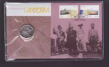 1913-2013 Centenary Of Canberra ACT PNC 20 Cent Coin Stamp Australia