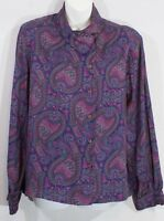 Vintage Paisley Pendleton Country Sophisticates Ladies Secretary Blouse