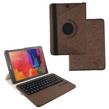 """Samsung Galaxy Tab S2 9.7"""" Leder Case Schutz Hülle mit Bluetooth Tastatur Braun"""