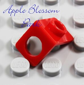 NEW Lego RED MINIFIG NECK BRACKET Package Holder Back Plate Gear w/Stud-Knob