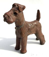 Vintage Austrian Cold Painted Bronze Dog Terrier In The Style Of Bergman