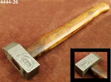 "ALISTAR 12.5"" CUSTOM HAND FORGED DAMASCUS STEEL HAMMER (4444-26"