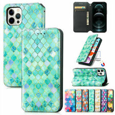 For iPhone 13 12 11 Pro Max 7 8 Xr Magnetic Case Leather Flip Wallet Cards Cover