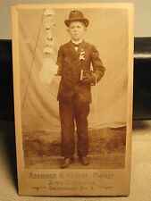 ANTIQUE THE ASSMAN KRUGER YOUNG BOY BIBLE ORNAMENT ZWEIBRUCKEN GERMAN CDV PHOTO