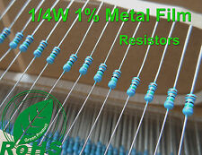 Película de metal 1525 MR25 Resistor Kit 1/% 1//4 W E12 Valores Rohs completo Spec 10R-1M