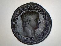 Germanicus AE As struck under Claudius 50–54 AD.